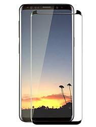 Недорогие -Защитная плёнка для экрана Samsung Galaxy для S8 Закаленное стекло 1 ед. Защитная пленка на всё устройство 3D закругленные углы Защита от