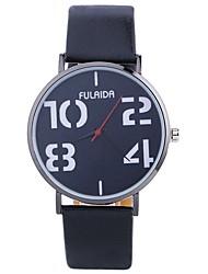 Недорогие -Жен. Модные часы Кварцевый Крупный циферблат PU Группа Аналоговый Мода минималист Черный / Белый / Синий - Пурпурный Коричневый Розовый Один год Срок службы батареи