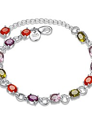cheap -Women's Silver Plated Chain Bracelet - Fashion Geometric Silver Bracelet For Gift Daily