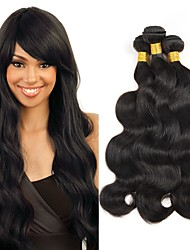 cheap -Brazilian Hair Wavy Natural Color Hair Weaves / Human Hair Extensions Human Hair Weaves Extention / Hot Sale Natural Black All