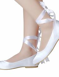 economico -Per donna Scarpe Seta Primavera / Autunno Comoda / Ballerina scarpe da sposa Basso Bianco / Avorio