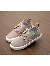 cheap -Boys' Shoes Canvas Spring Comfort Sneakers for Dark Blue / Light Brown