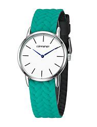baratos -Mulheres Relógio de Moda Relógio Casual Náilon Banda Colorido / Minimalista Preta / Branco / Vermelho