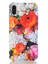 baratos -Capinha Para Apple iPhone X / iPhone 8 Estampada Capa traseira Flor Rígida PC para iPhone X / iPhone 8 Plus / iPhone 8