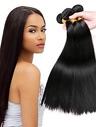 Недорогие -3 Связки Перуанские волосы Прямой 8A Натуральные волосы Человека ткет Волосы Накладки из натуральных волос Естественный цвет Ткет человеческих волос Удлинитель Горячая распродажа