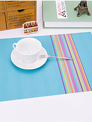 cheap -Contemporary Plastic Square Placemat Striped Table Decorations