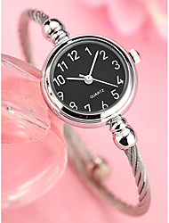 abordables -Femme Quartz Bracelet de Montre Chinois Chronographe Alliage Bande Minimaliste Rigide Argent Doré