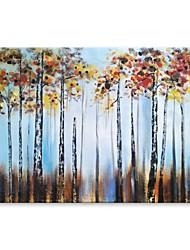 Недорогие -styledecor® современная ручная роспись абстрактная красочная роспись маслом на холсте для настенного искусства на обернутом холсте
