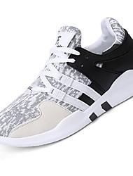 お買い得  -男性用 靴 チュール ネット 夏 ライト付きソール コンフォートシューズ スニーカー ウォーキング ランニング のために カジュアル アウトドア ブラック グレー ピンクとホワイト