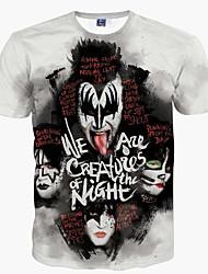 billige Herremode og tøj-Herre - Portræt Trykt mønster Punk & gotisk Gade T-shirt