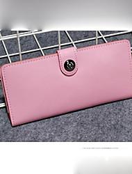 povoljno -Žene Torbe prava koža Novčanici Gumbi za Kauzalni Sva doba Plava Crn Blushing Pink Bijela