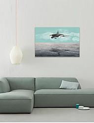 abordables -Estampado Laminados en lienzo - Abstracto Realismo Modern