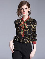 cheap -SHIHUATANG Women's Business Street chic Shirt - Geometric, Print