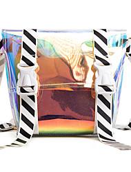 baratos -Mulheres Bolsas PU Leather Bolsa de Ombro Estampa para Compras Arco-íris