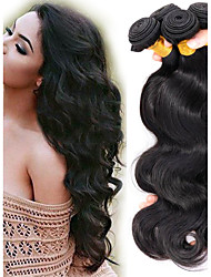 cheap -Malaysian Hair / Body Wave Body Wave Virgin Human Hair Natural Color Hair Weaves / Extension / One Pack Solution 4 Bundles Human Hair