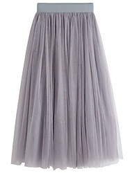 cheap -Women's Street chic Maxi A Line Skirts - Solid Colored