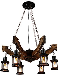 cheap -JLYLITE 6-Light Industrial Chandelier Uplight - Mini Style, 110-120V / 220-240V Bulb Not Included / 30-40㎡ / FCC / VDE / E26 / E27
