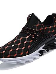 Недорогие -Муж. Универсальные обувь Полиуретан Ткань Весна Осень Светодиодные подошвы Удобная обувь Кеды Беговая обувь для Атлетический Повседневные