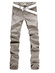 economico -Per uomo Attivo / Moda città Cotone Largo Chino / Pantaloni della tuta Pantaloni - Tinta unita / Sport