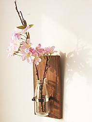 Недорогие -Искусственные Цветы 0 Филиал Деревня / европейский Ваза Цветы на стену / Одноместный Ваза
