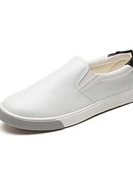 povoljno -Žene Cipele Sintetika, mikrofibra, PU Proljeće Jesen Udobne cipele Natikače i mokasinke Ravna potpetica za Kauzalni Crn Crvena Zelen