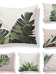 baratos -6 pçs Téxtil Algodão / Linho Fronha, Floral Estampado Geométrico Vintage Tropical
