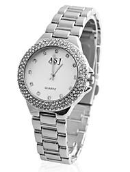baratos -ASJ Mulheres Relógio de Pulso Japanês Relógio Casual Lega Banda Luxo / Elegante Prata / Dourada / Ouro Rose / Um ano / SSUO 377