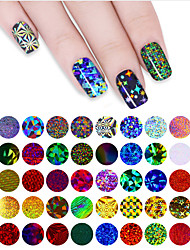 cheap -50 pcs Full Nail Stickers nail art Manicure Pedicure Smooth Sticker / Colorful Nail Decals Wedding / Party / Party Evening