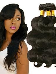 Недорогие -3 Связки Бразильские волосы Волнистый 8A Натуральные волосы Накладки из натуральных волос Естественный цвет Ткет человеческих волос Удлинитель Горячая распродажа Расширения человеческих волос Все