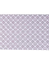 cheap -1pack Modern Bath Rugs PVC Stripe Square Non-Slip