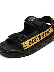 abordables -Homme Chaussures Tissu Eté Confort Sandales pour Décontracté De plein air Noir et Or Noir / blanc Noir / Rouge