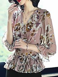 cheap -XSSL Women's Cute Basic Blouse-Floral