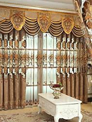 baratos -Cortinas cortinas Sala de Estar Contemporâneo Algodão / Poliéster Estampado