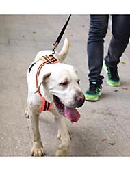 economico -Prodotti per cani Pettorine Ajustável / Retrattile Riflessivo Traspirante Ripiegabile Tinta unita Nylon Arancione Verde