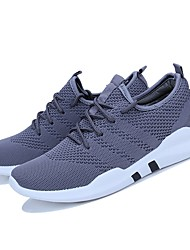 cheap -Men's Light Soles Knit / Tulle Summer / Fall Comfort Athletic Shoes Running Shoes Black / Gray / Light gray