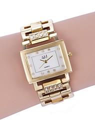 baratos -ASJ Mulheres Bracele Relógio Japanês Relógio Casual Lega Banda Luxo / Fashion Branco / Dourada / Dois anos / SSUO 377