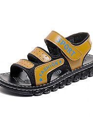 baratos -Para Meninos sapatos Couro Ecológico Tule Verão Conforto Sandálias Velcro para Casual Ao ar livre Preto Azul Escuro Amarelo