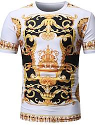 preiswerte -Herrn Einfarbig - Grundlegend T-shirt Druck