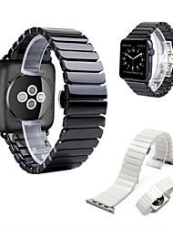 abordables -Bracelet de Montre  pour Apple Watch Series 3 / 2 / 1 Apple papillon Boucle Céramique Sangle de Poignet