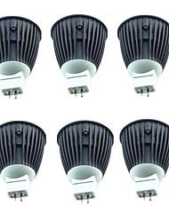 cheap -6pcs 4.5W 600lm MR16 LED Spotlight 1 LED Beads COB Warm White Cold White 220-240V