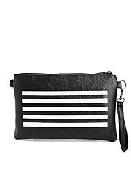 povoljno -Žene Torbe PU Clutch torbica Patent-zatvarač za Kauzalni Sva doba Crn