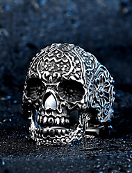cheap -Men's Ring - Stainless Steel Skull Rock, Fashion 7 / 8 / 9 Silver For Halloween / Daily / Casual