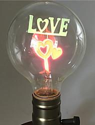 Недорогие -1шт 2 W E26 / E27 G80 Тёплый белый 2200-2800 k Ретро / Декоративная Лампа накаливания Vintage Эдисон лампочка 220-240 V