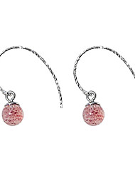 cheap -Women's Crystal Drop Earrings - S925 Sterling Silver Ball, Strawberry Simple, Sweet, Fashion Pink For Gift / Daily
