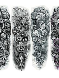 economico -Adesivo / Autoadesivo del tatuaggio Tatuaggi temporanei Serie di cartoni animati braccio 4 pcs