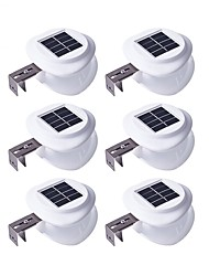 cheap -6pcs 0.5W Wall Light Solar Light Control Outdoor Lighting Warm White Cold White 2V