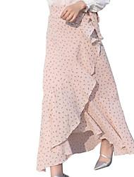 abordables -Mujer Básico Corte Sirena Faldas A Lunares