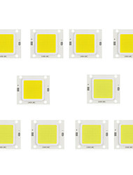 baratos -10pçs 30-34V Acessório de lâmpada Chip LED Alumínio para o diodo emissor de luz holofote da luz de inundação de DIY 50W