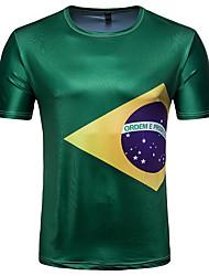 povoljno -Majica s rukavima Muškarci - Ulični šik Dnevno Sport Color block Print