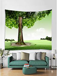 abordables -Thème jardin Paysage Décoration murale 100 % Polyester Moderne Art mural, Tapisseries murales Décoration